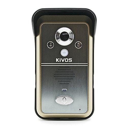 KIVOS KDB700 Wireless Video Door Phone Intercom 7 inch TFT Monitor Dual Audio Remote Unlocking Night Vision PIR Sensor Motio Detection Support TF Card