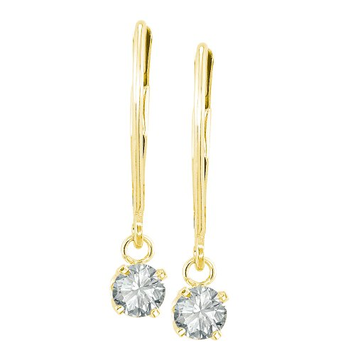 14k Yellow Gold Diamond Dangle Earrings (1/2 cttw, J-K Color, I2-I3 Clarity)