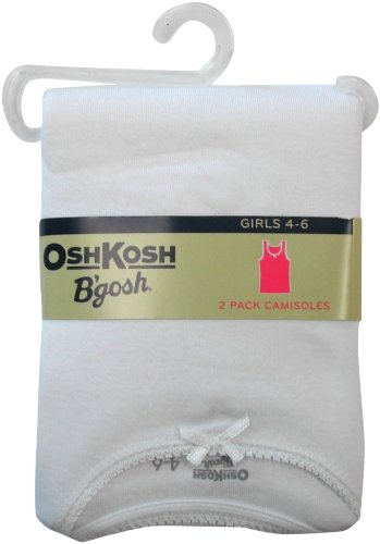 OshKosh B'Gosh Girls  Girls White Camisole 2 Pack,White,2-4 = weight 24-39 lbs