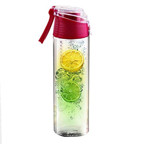 ZN Fruits Bouteille d'eau avec infuseur à fruit Infusion pour Home extérieur