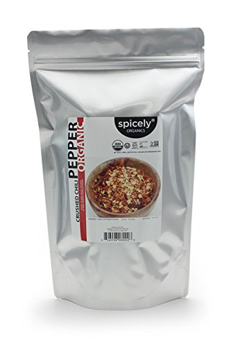 Spicely Organic Chili Crushed - 1 LB Bulk / Wholesale (Chili Pepper Organic compare prices)