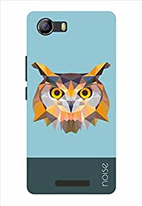 Noise Crystal Owl-Blue Printed Cover for Micromax Canvas Spark 2 Q334