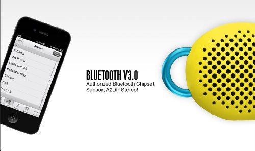 Avoitronics Divoom Bluetune-Bean Ultra Portable Bluetooth Wireless Speaker With Hands-Free, Works With All Bluetooth Capable Cell Phones/Tablets,Pc/Mac And Other Devices (Yellow)