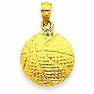 14K Basketball Pendant