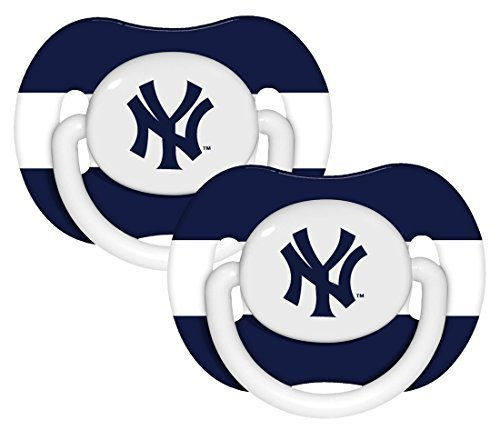 Baby-Fanatic-Pacifier-2-Pack-New-York-Yankees-Team-Colors-by-Baby-Fanatic