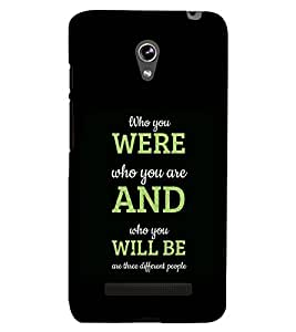 PRINTSHOPPII QUOTES Back Case Cover for Asus Zenfone 5 A501CG::Asus Zenfone 5 A500CG