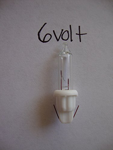 100 Replacement Mini Light Bulbs - 6 Volts - Clear Bulbs - White Base - Christmas (Mini Lightbulb compare prices)