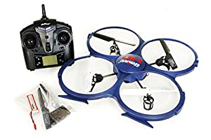 UDI UPDATED Discovery U818A-1 2.4Ghz 4CH 6 Axis Gyro RC Quadcopter w/ HD Video Camera & BONUS Battery