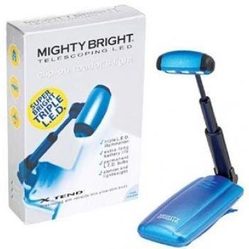 Mighty Bright Blue Telescoping LED Reader's Light