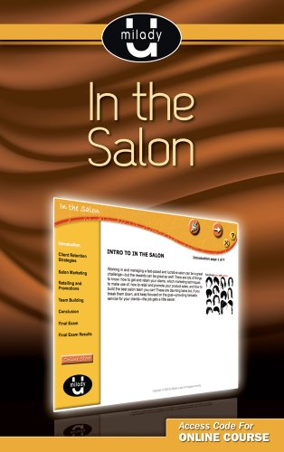 Printed Access Card for Milady U Professional Development: In the Salon