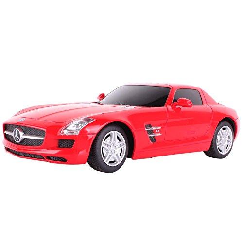 YESURPRISE Modellauto Rastar Spielauto Fernbedienung Auto Car Modell R/C 1:24 Mercedes - Benz SLS AMG 40100 rot