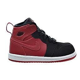 Jordan 1 Retro High BT Toddler\'s Shoes Gym Red/Black/White 705304-605 (3 M US)