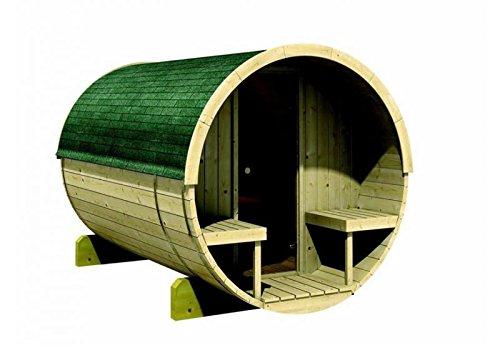 Karibu Fass - Sauna 2 42 mm inkl. 9-kW-Bioofen -...