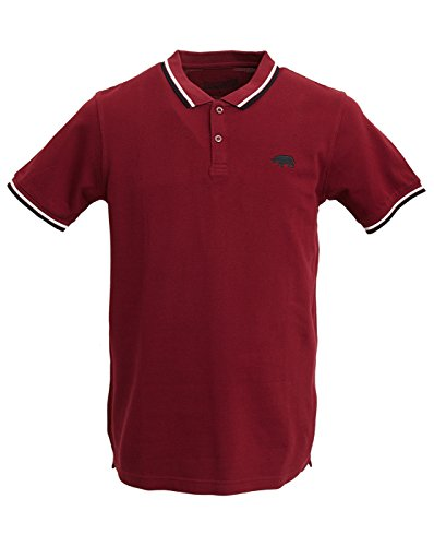 Harrington, Polo Uomo, Rosso (Bordeaux), Large