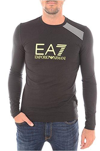 EMPORIO ARMANI EA7-MAGLIETTA A MANICHE LUNGHE DA UOMO, ELASTICIZZATA 5A254, COLORE: NERO nero M