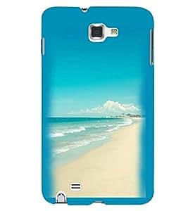 Printvisa Beautiful Seaside Scene Back Case Cover for Samsung Galaxy Note 2