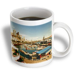 Danita Delimont - Seattle - USA, Washington, Seattle, Bell Street Pier - US48 RDU0473 - Richard Duval - 15oz Mug (mug_148496_2)