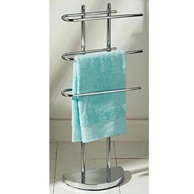 CHROME - Curved Towel Rail / Clothes Valet