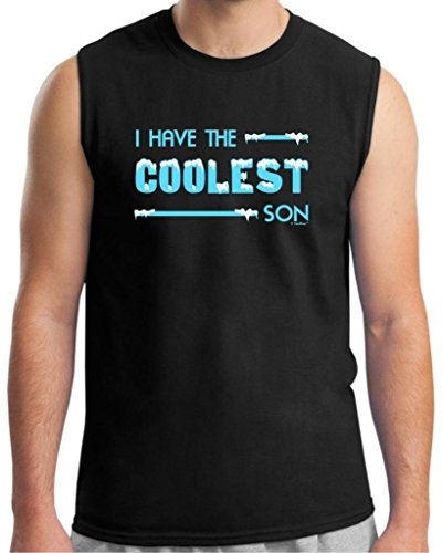 I Have The Coolest Son, Parent Gift Sleeveless T-Shirt Large Black