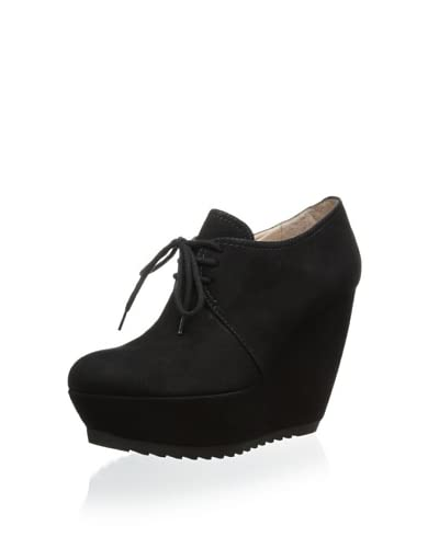 Pura López Women's Lace-Up Wedge Bootie