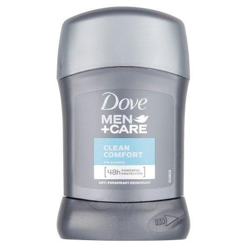 Dove Uomini + Cura Antitraspirante Deodorante - Bastone Comodità Pulito (50ml)