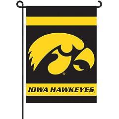 Buy NCAA Iowa Hawkeyes 2-Sided Garden Flag by BSI