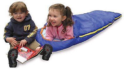 More image Kids Sleeping Bag w/ Hood, Insufil 1 Insulation/ Built-in Pillow