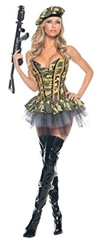 Be Wicked Womens Uniforms Smokin Hot Military Commando Sexy Theme Party Costume