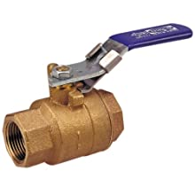 "NIBCO NL9507D Cast Bronze Ball Valve, Two-Piece, Locking Lever Handle, 2"" Female NPT Thread (FIPT)"