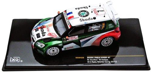 ixo MODELS Modellino Auto Skoda Fabia S2000 Monte Carlo 2010 -Scala 1:43
