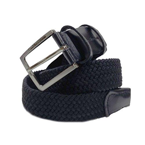 Cintura intrecciata elasticizzata Gian Marco Venturi cod: GV704 Nero