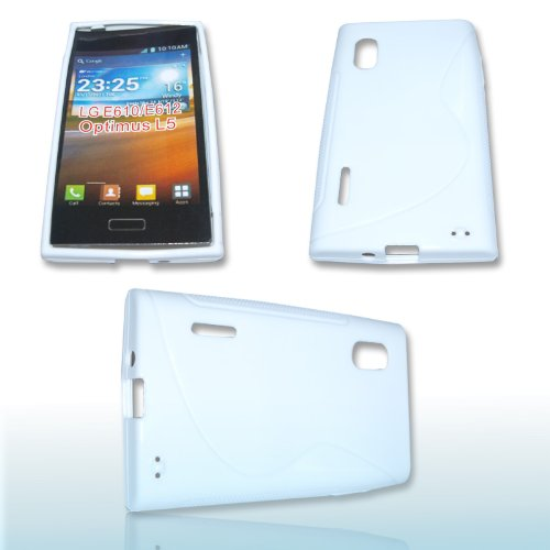 Rubber Silikon Case Handy Tasche Hülle WEISS für LG E610 Optimus L5 / Silicon Schutzhülle Handytasche