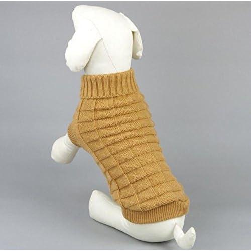 (ライフィーズ) Lifees 犬服 猫 セーター ペット服 シンプル カジュアル ドッグウェア サイズ XS-2XL 5色 6サイズ ブラウン XL