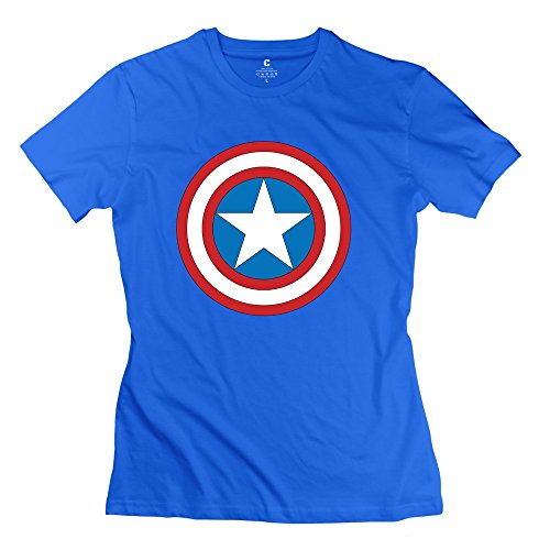 PTYS Women's Tee Captain America Logo RoyalBlue