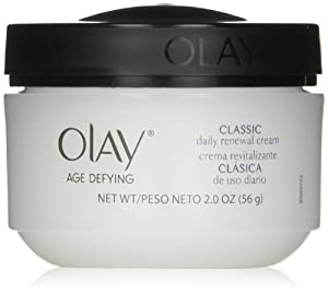 Olay Age Defying Classic Daily Renewal Cream Facial Moisturizer 2 Oz (Pack of 2)