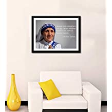 Tallenge - Mother Teresa Quote - Yesterday Is Gone - Ready To Hang Framed A3 Size Poster (12x17 Inches)