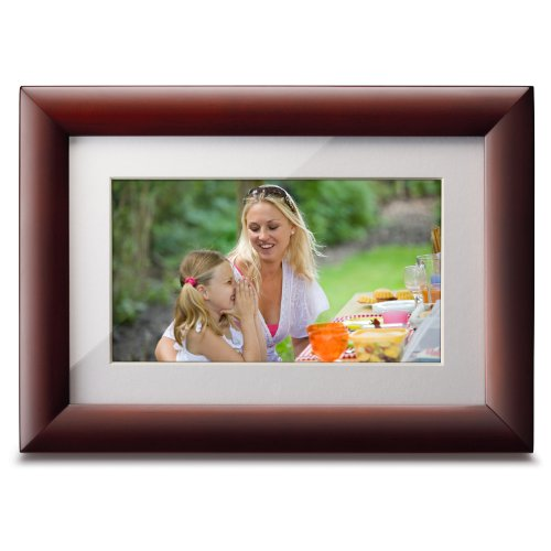 Viewsonic'S VFA724W-10 7-Inch High Resolution Digital Photo Frame (Cherry Wood Frame)