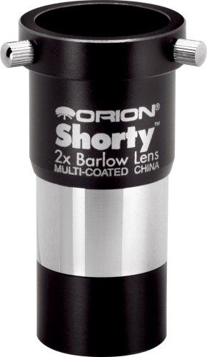 Ocular para telescopio Orion 08711 Shorty de 1.25 pulgadas tipo barril de 2x (Negro)