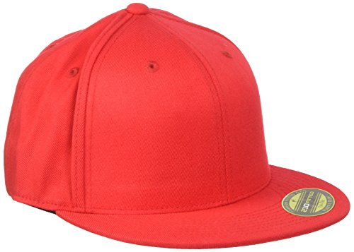 Flexfit, Cappello Unisex adulto Premium 210 Fitted, Rosso (Red), L/XL