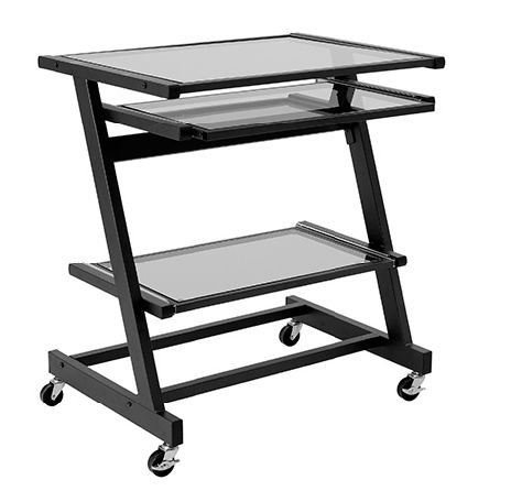 Buy Low Price Comfortable ITALMODERN Z Computer Cart; Graphite Black (B001NMSD26)