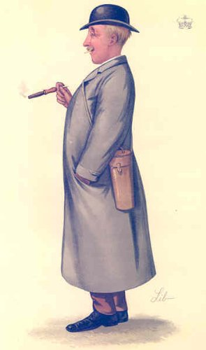 Sussex: Hastings Racing.Binoculars. Vanity Fair Spy Cartoon 1886