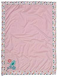 Modern Blossom Polka Dots With Bird And Flowers Girls Baby Blanket