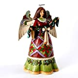 Jim Shore Glorious Garland Christmas Angel Holding Garland Figurine