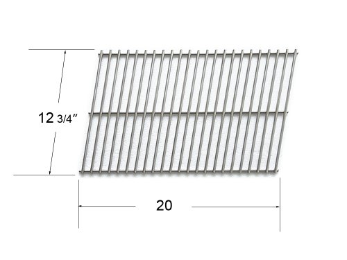 91701 - Char-Broil, Great Outdoors, Grill Master, Sunbeam And Vermont Castings Gas Grill Replacement Stainless Steel Grate