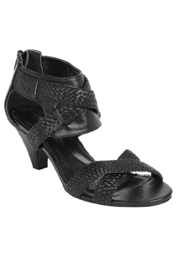 Comfortview Women'S Wide Stephanie Sandal (Black,8 Ww)