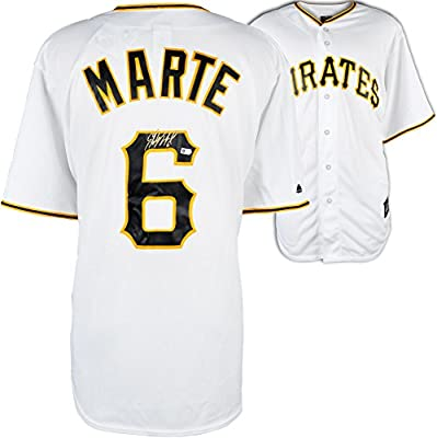 Starling Marte Pittsburgh Pirates Autographed Majestic Replica Home Jersey - Fanatics Authentic Certified