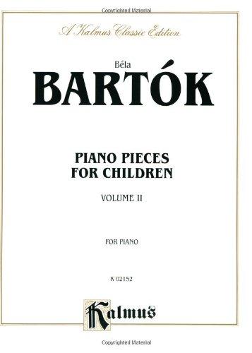 Bela Bartok Piano Pieces for Children Vol. II