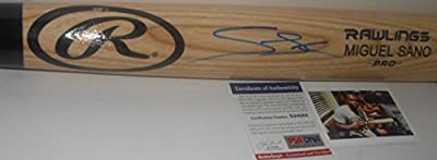 Miguel Sano Minnesota Twins Rookie PSA DNA Signed Autographed Pro Model Blonde Baseball Bat