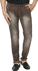 Spuro Men's Regular Fit Jeans_01_Brown_XS