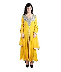 Sabrang Yellow Elegant Occasion Wear Suit With Royal Touch And Stylish Embroidery.